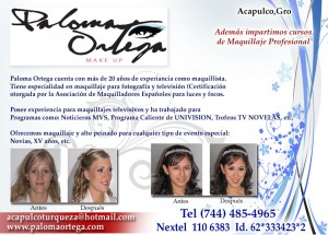 PALOMA ORTEGA MAKE UP