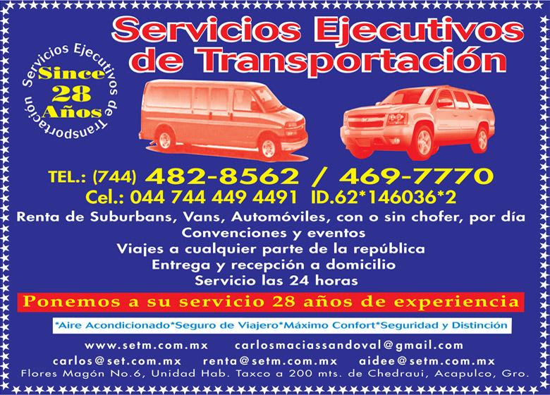 SERVICIOS EJECUTIVOS DE TRANSPORTACION