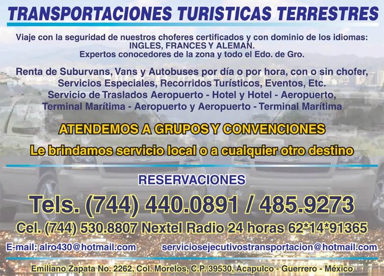 TRANSPORTES TURISTICOS TERRESTRES